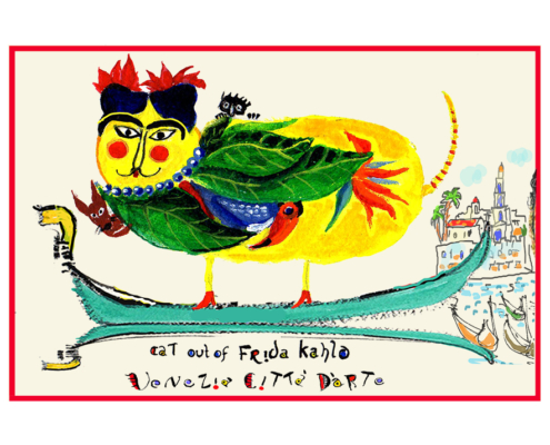 Frida Kahlo Cat Artistic Caz Michal Meron The Studio in Venice